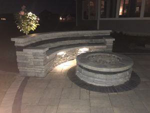 Lighting - fire pit